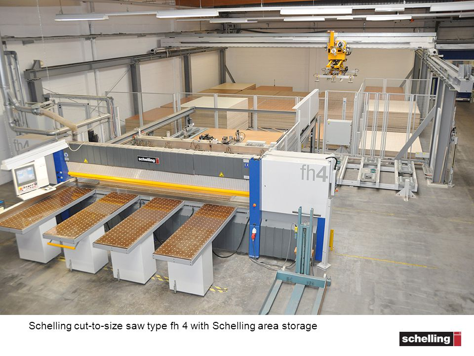 Schelling cut-to-size saw type fh 4 with Schelling area storage