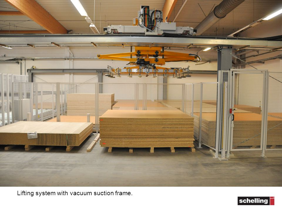 Lifting system with vacuum suction frame.
