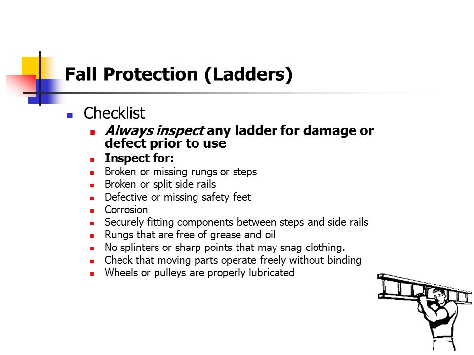 Fall Protection Cont'd Mezzanine Housekeeping When stacking items on the mezzanine:  Do not stack items in the aisles.