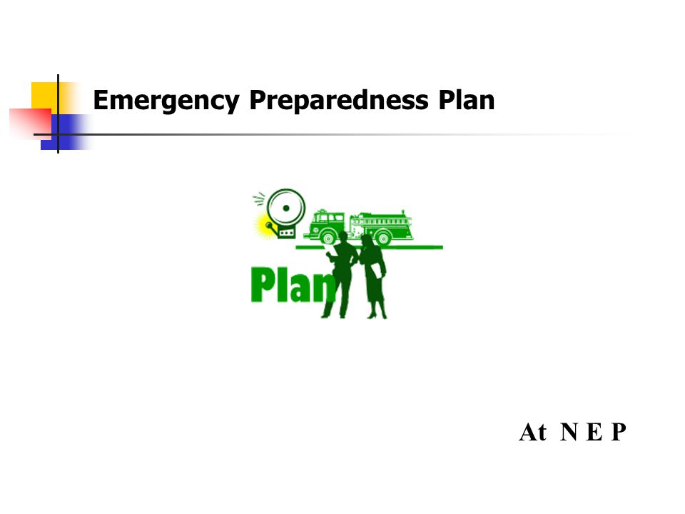Section 5 Emergency Preparedness Plans
