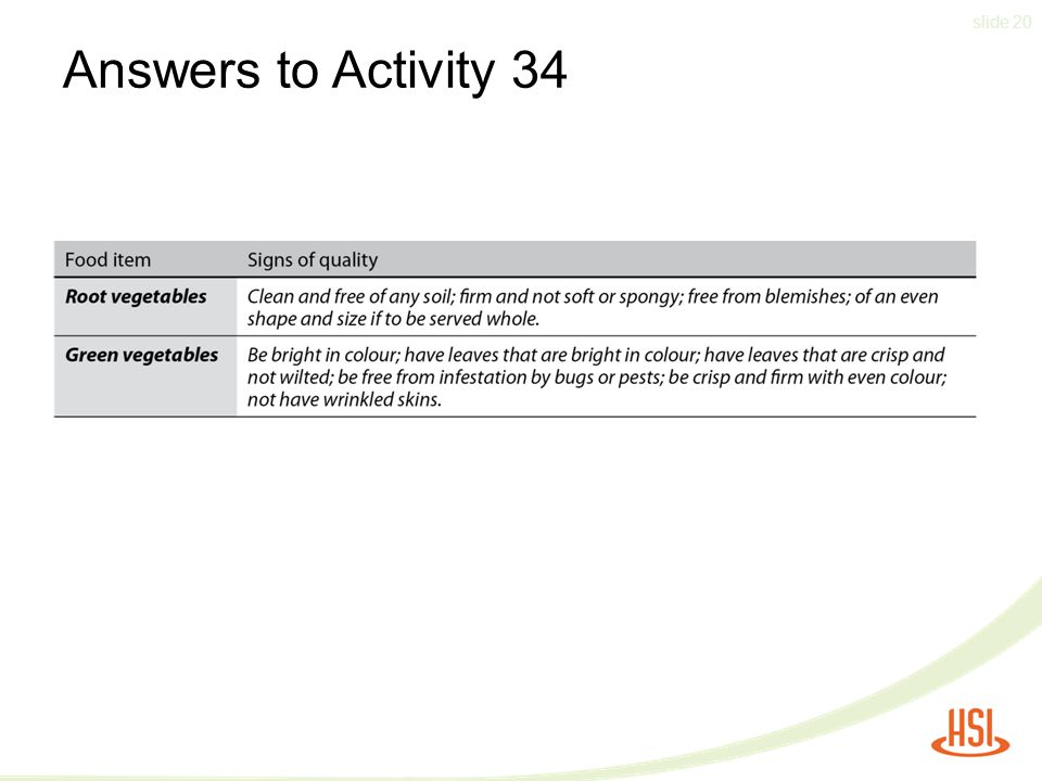 slide 20 Answers to Activity 34