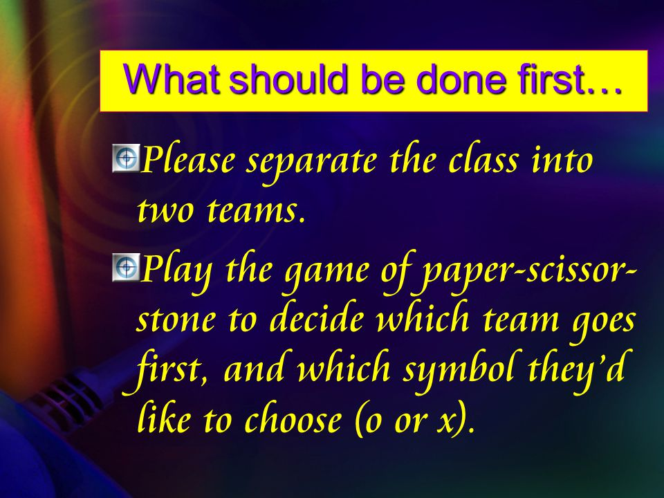 the goal of this game is to answer questions correctly to form 3 X s or O s across, up and down, or diagonally.
