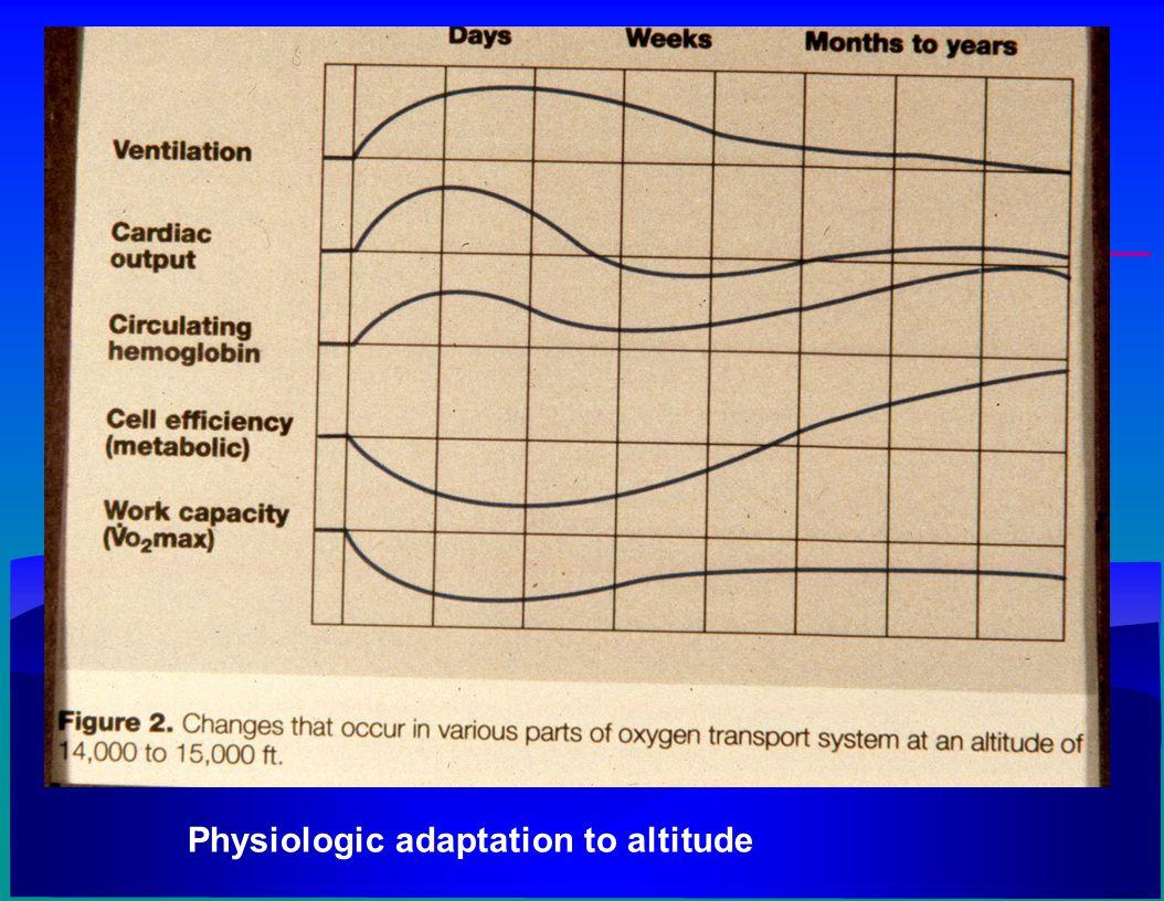 Physiologic adaptation to altitude