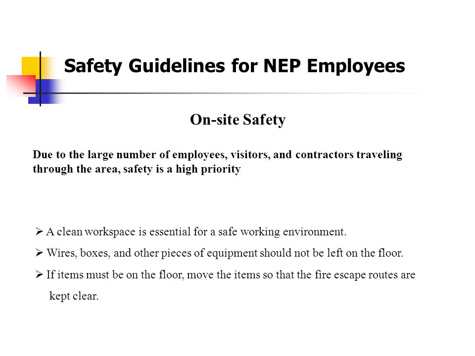 Section 2 Site Safety House Keeping and Materials Handling/Storage Compressed Gas Cylinders Heat Stress Illness and Prevention Spider Awareness