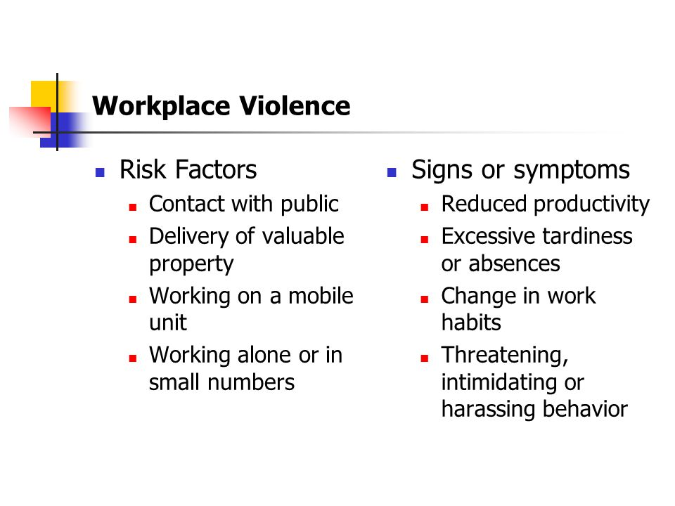 Section 5 Workplace Violence Drug Free Workplace Natural Disaster Procedures