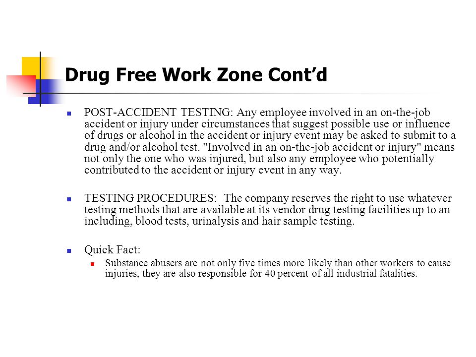 Drug Free Work Zone PRE-EMPLOYMENT TESTING: When an offer of permanent full-time or permanent part time employment (not temporary seasonal employment as this hiring is conducted on an event basis) is made and accepted a perspective employee will be required to take and successfully pass a drug test along with a background check.