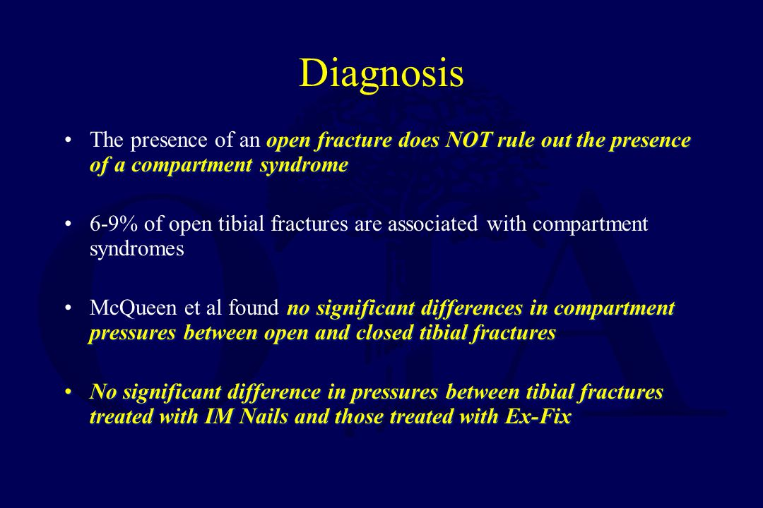 Criteria-Compartment Pressure Accurately examine –Difference < 30mm Hg Impaired –Absolute > than 30mm Hg