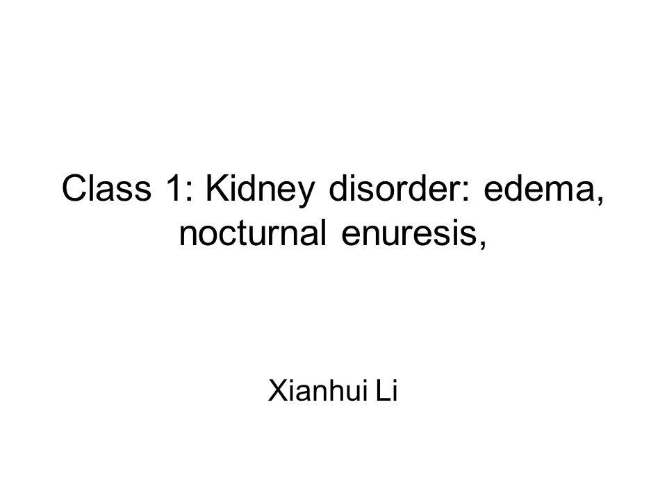 Class 1: Kidney disorder: edema, nocturnal enuresis, Xianhui Li