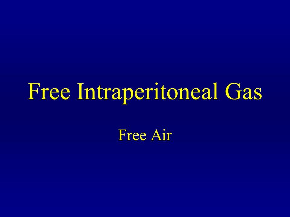 Free Intraperitoneal Gas Free Air