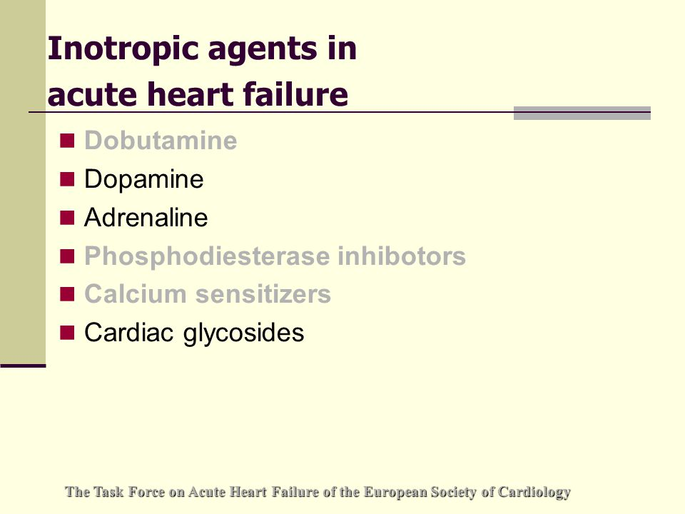Cardiac Glycosides Not recommended in acute heart failure, in particular following acute myocardial infraction.