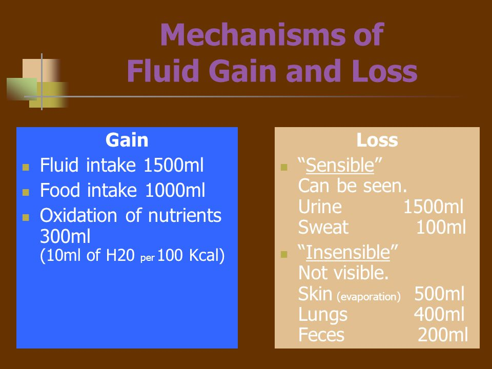 Regulation of Fluids Hypothalmus –thirst receptors (osmoreceptors) continuosly monitor serum osmolarity (concentration).