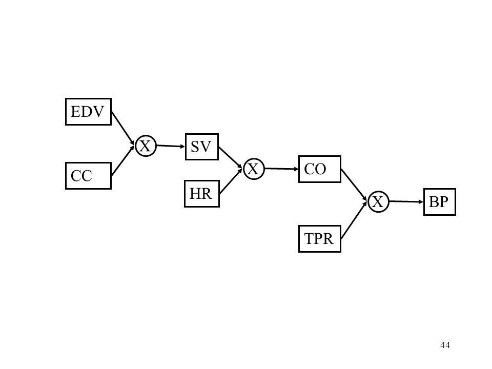 44 EDV CC SV HR TPR BP X CO X X