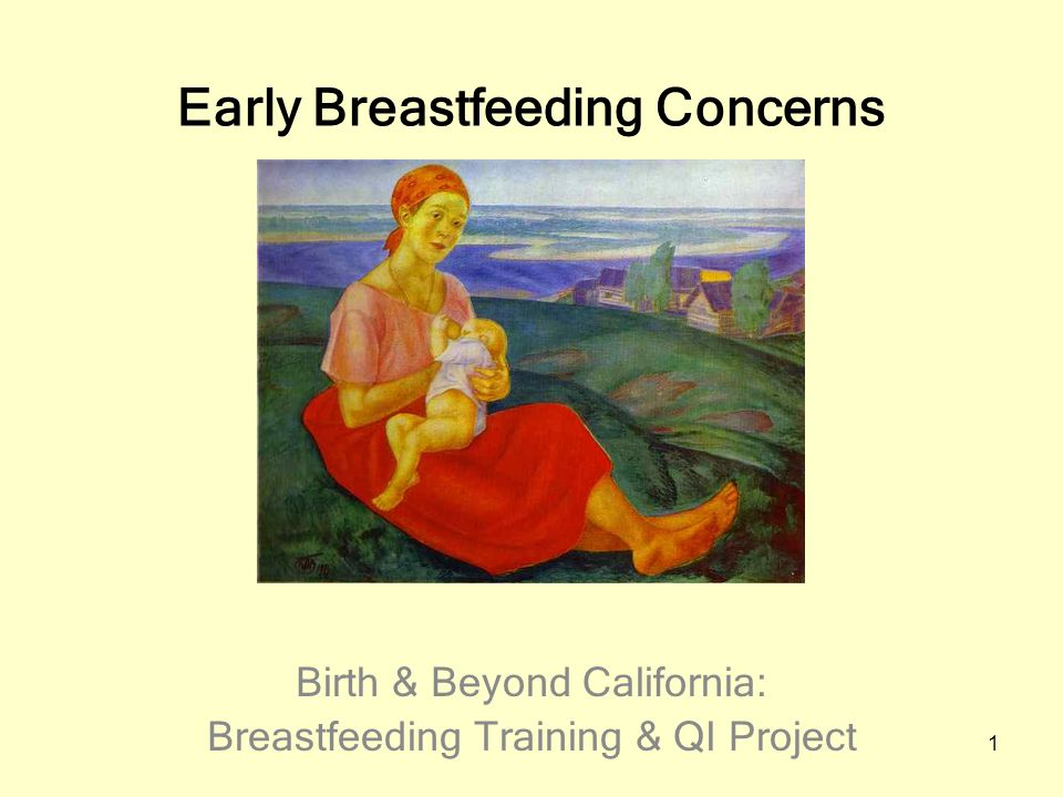 1 Early Breastfeeding Concerns Birth & Beyond California: Breastfeeding Training & QI Project