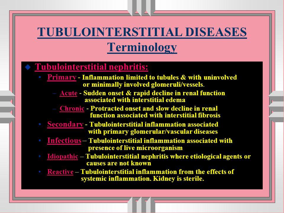 Acute tubular necrosis (ATN) u commonest cause of acute renal failure u develops due to : direct poisoning of tubules (nephrotoxic lesions) renal ischemia (tubulorrhexic lesions)