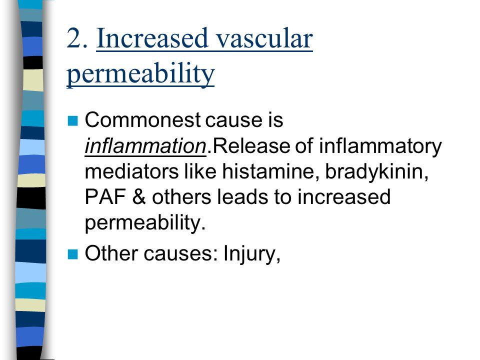 Causes :- 1. Impaired venous return congestive cardiac failure constrictive pericarditis, ascitis (liver disease) 2. Venous obstruction thrombi, tumor