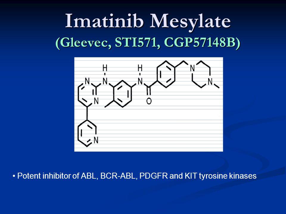 Imatinib Mesylate (Gleevec, STI571, CGP57148B) Potent inhibitor of ABL, BCR-ABL, PDGFR and KIT tyrosine kinases