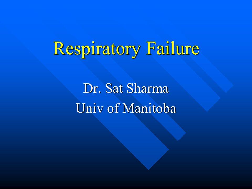 Respiratory Failure Dr. Sat Sharma Univ of Manitoba