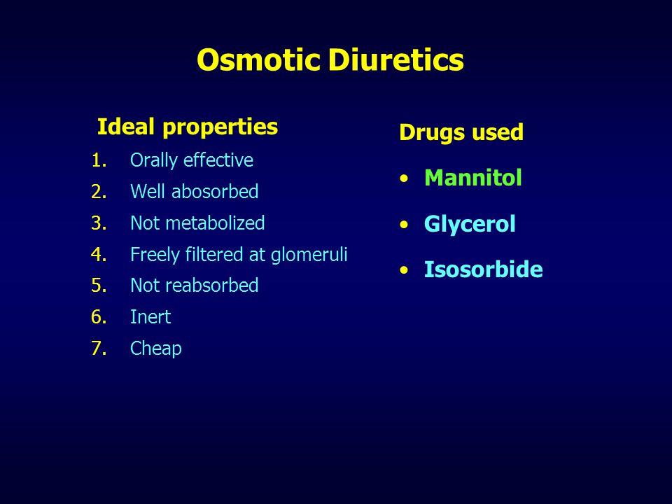 Thiazides -Adverse Effects 1)Hypokalemia 2)May ppt renal failure 3)Hyperuricemia 4)Hyperglycemia 5)Hyperlipidemia 6)Hypomagnesemia 7)Hypchloremic alkalosis 8)Hypersensitivity 9)ppt.
