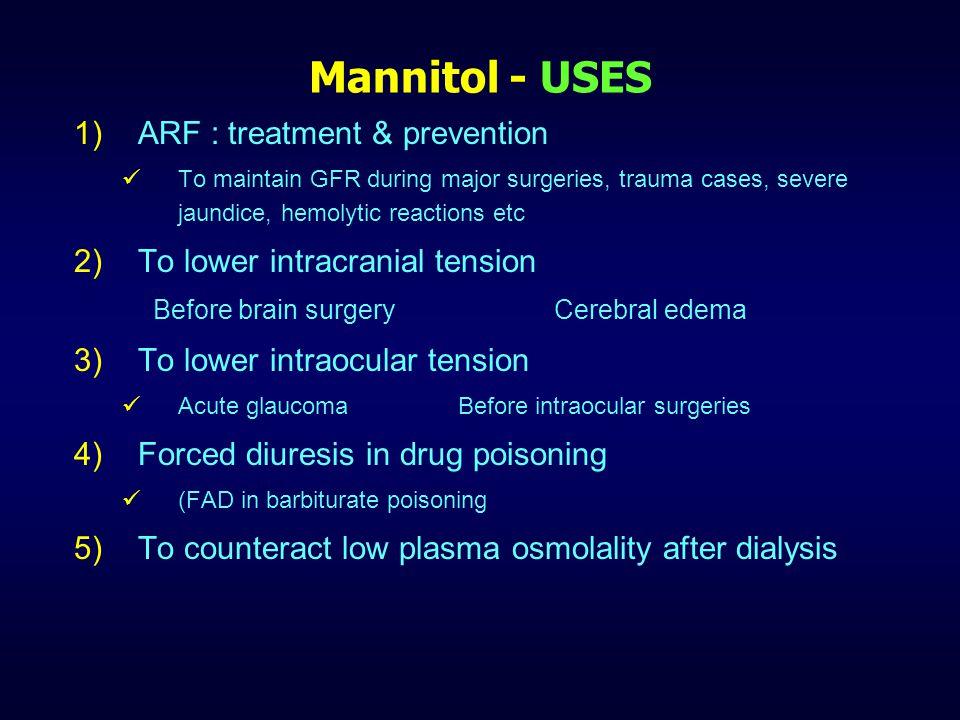 Osmotic diuretic - Preparations DrugDaily dose Mannitol I.V.
