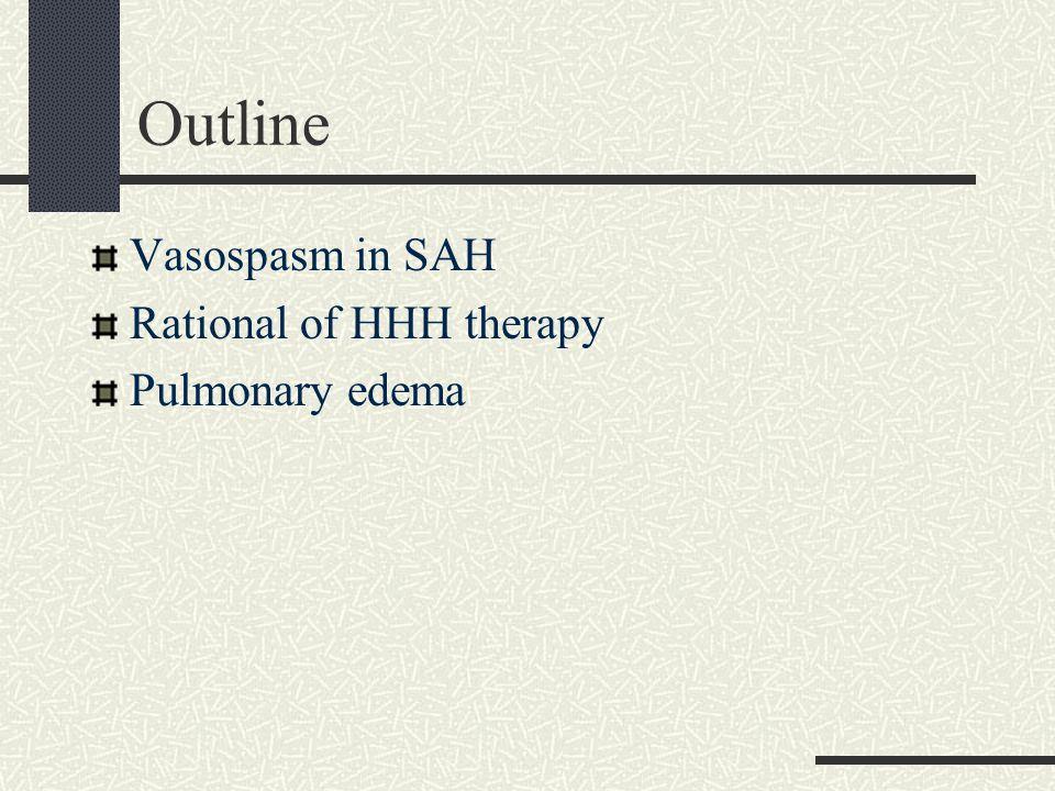 Norway study Normovolemic GrA(16): 1000ml D5W + 1000ml N/S Until POD12 Keep I/O balance Hypervolemic GrB(16): 2000ml D5W + 2000 ml N/S + 1000~1500 ml colloids Colloid: 500 ml of 4% albumin solution and/or 500– 1000 ml of Rheomacrodex (Dextran 40) Until POD 12 CVP: 8~12 MAP: 20%> baseline with Dopamine 5–15 g/kg/min Neurosurgery, Vol.
