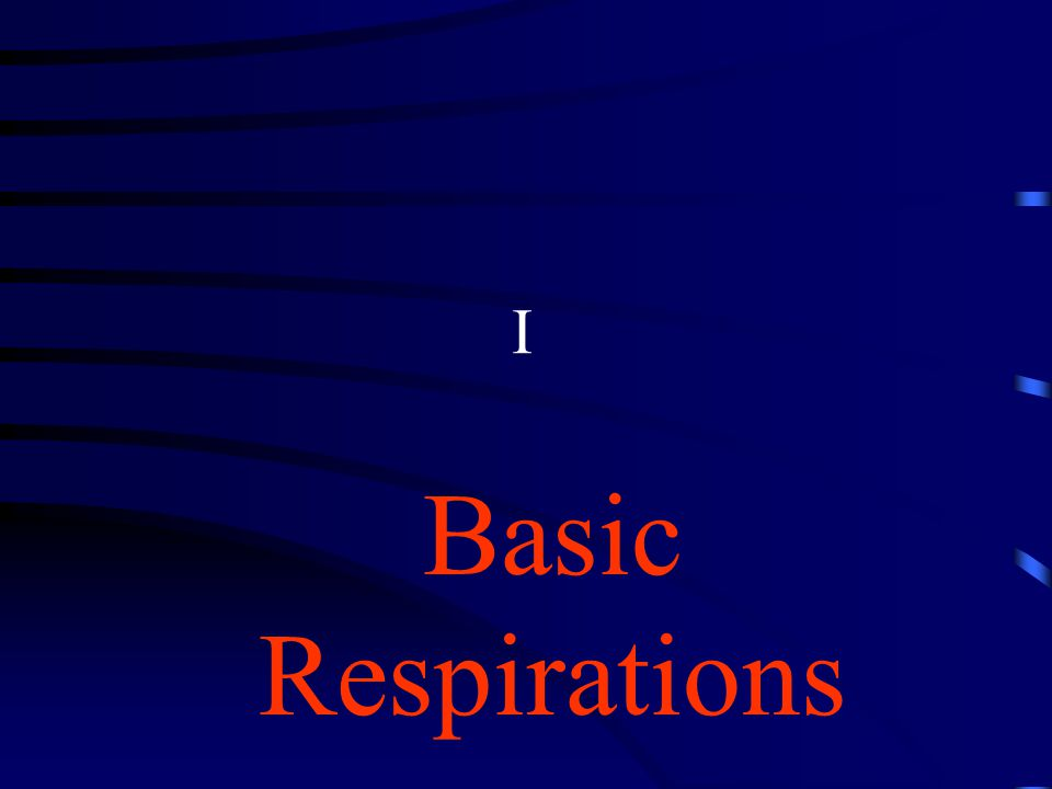 I Basic Respirations