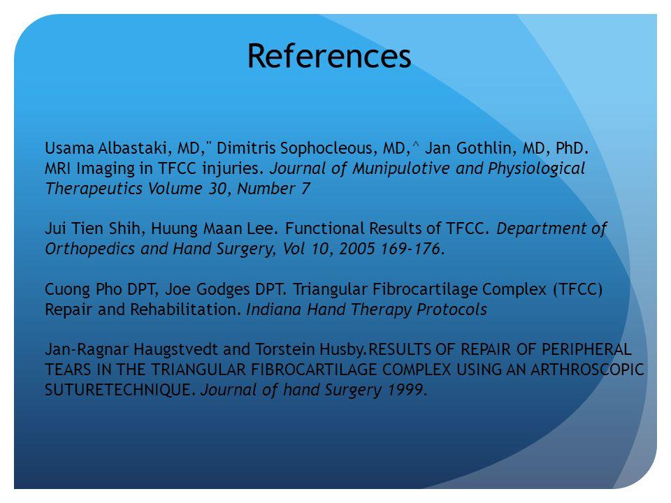 References Usama Albastaki, MD,
