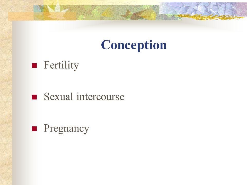 Conception Fertility Sexual intercourse Pregnancy