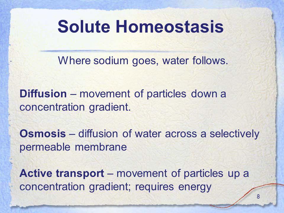 8 Where sodium goes, water follows.
