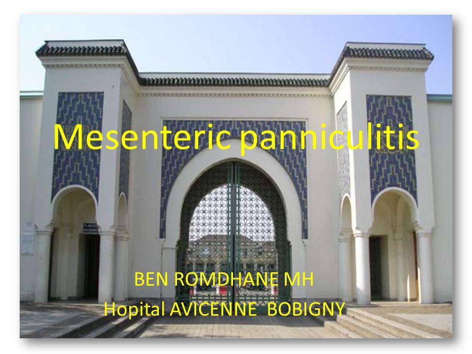 Mesenteric panniculitis BEN ROMDHANE MH Hopital AVICENNE BOBIGNY