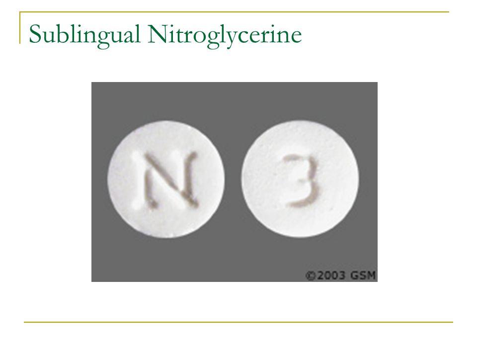 Sublingual Nitroglycerine