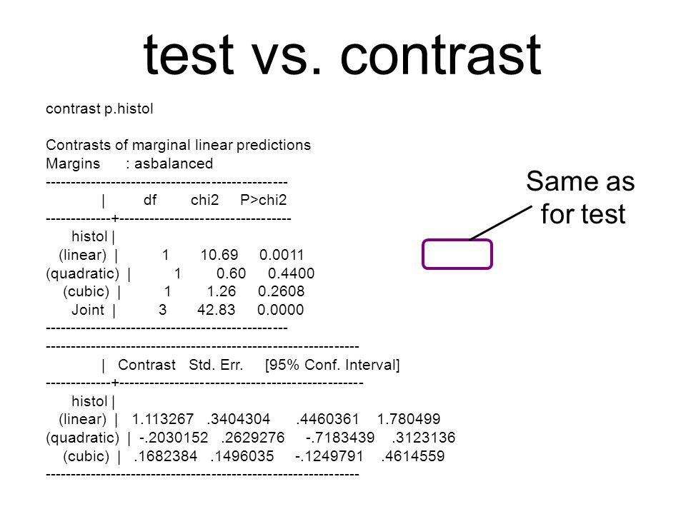 test vs.