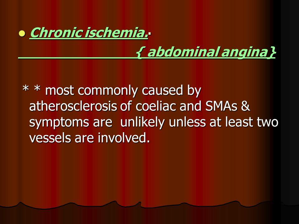 Chronic ischemia.Chronic ischemia.