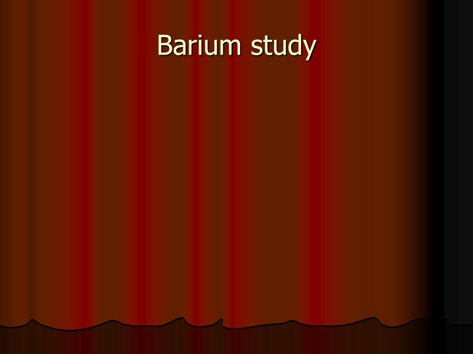 Barium study