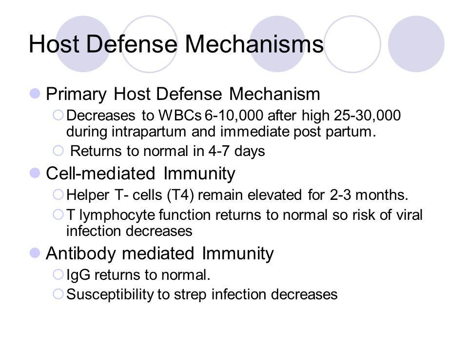 Host Defense Mechanisms Primary Host Defense Mechanism Cell-mediated Immunity Antibody Mediated Immunity