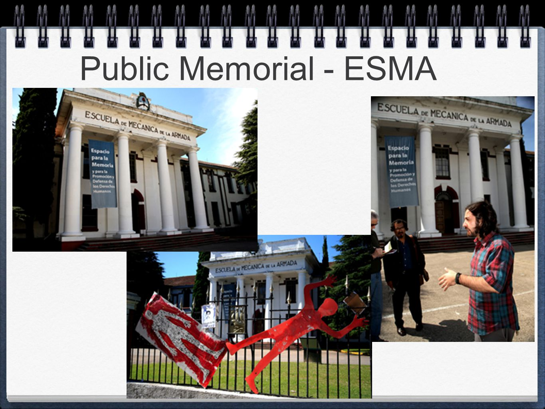 Public Memorial - ESMA