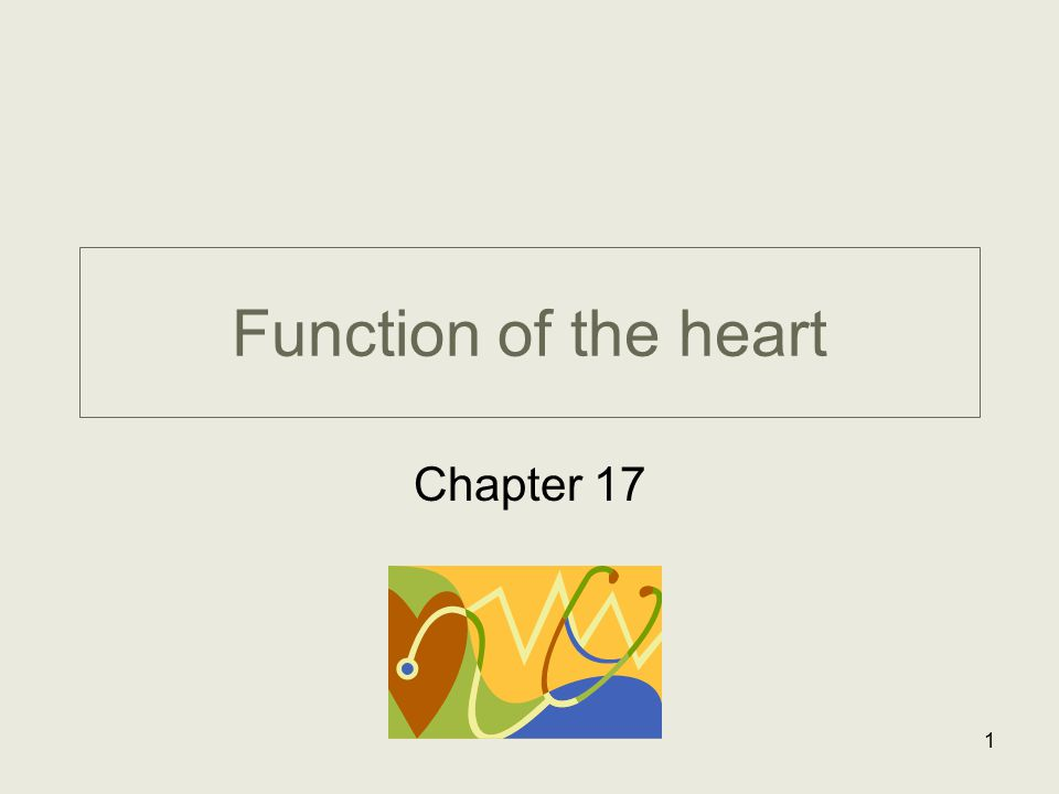 Function of the heart Chapter 17 1
