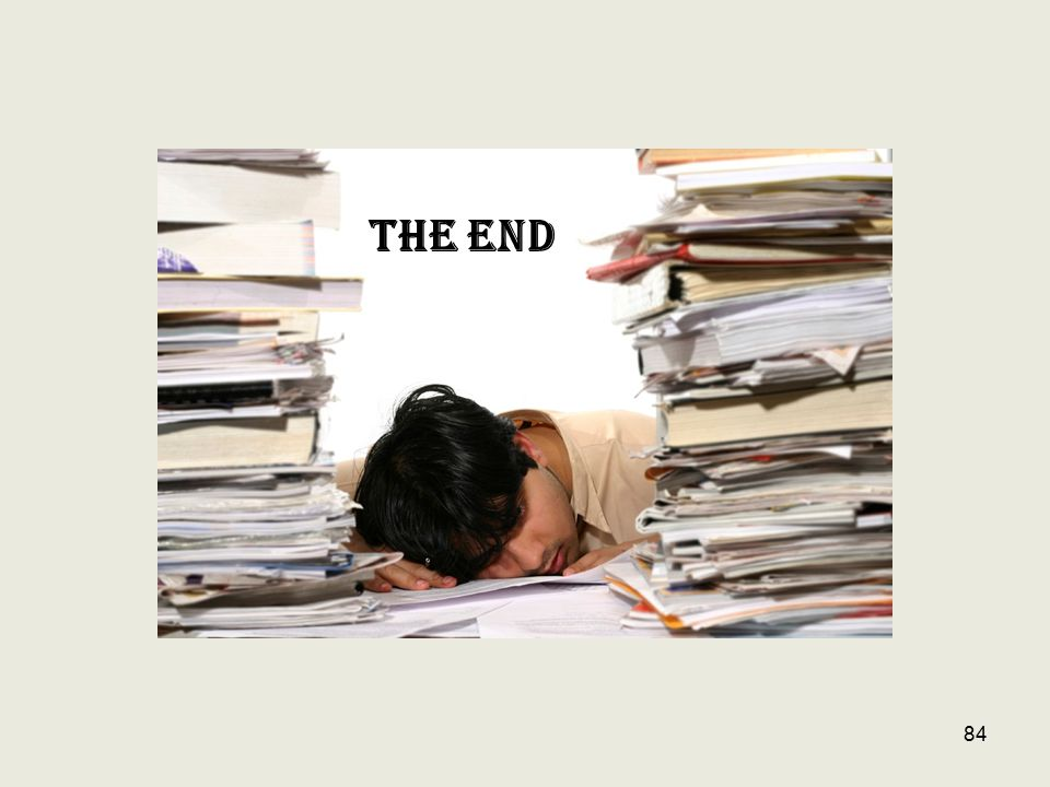 THE END 84