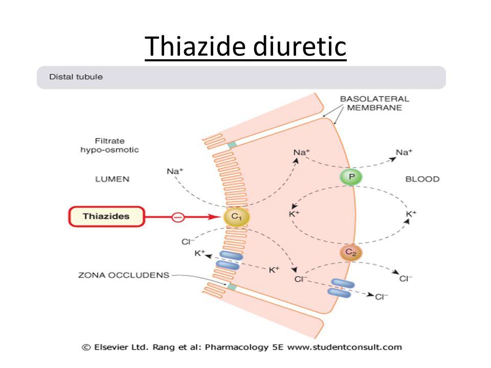 Thiazide diuretic