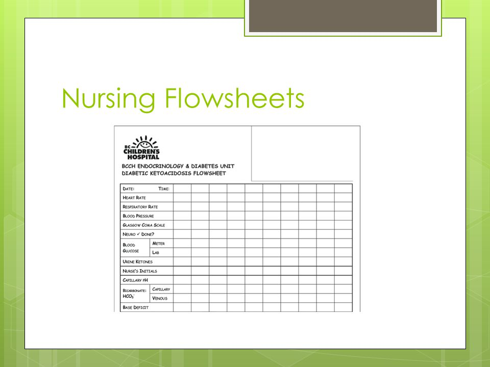 Nursing Flowsheets