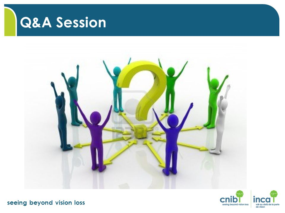 seeing beyond vision loss Q&A Session