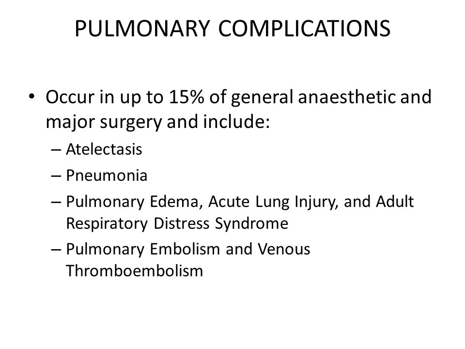 Pulmonary Edema, Acute Lung Injury, and Adult Respiratory Distress Syndrome acute lung injury and ARDS Management  maintaining the patient on the ventilator with assisted breathing while healing of the injured lung takes place  severe acute lung injury or ARDS is initially placed on an Fio2 of 100% and then weaned to 60% as healing takes place.