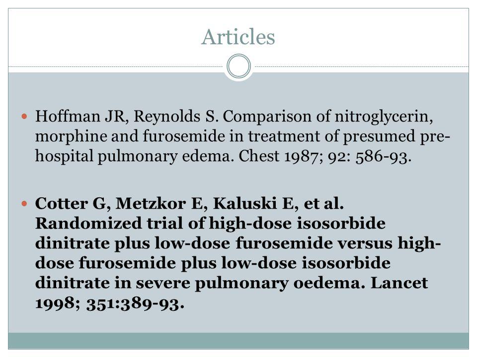 Articles Hoffman JR, Reynolds S.