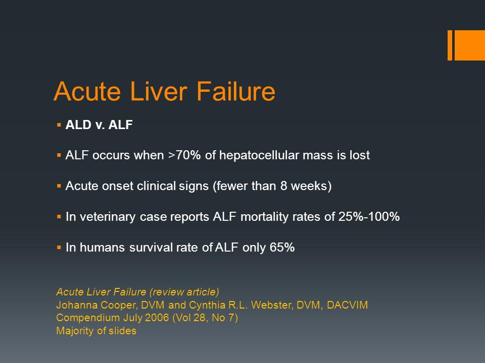 Acute Liver Failure  ALD v.