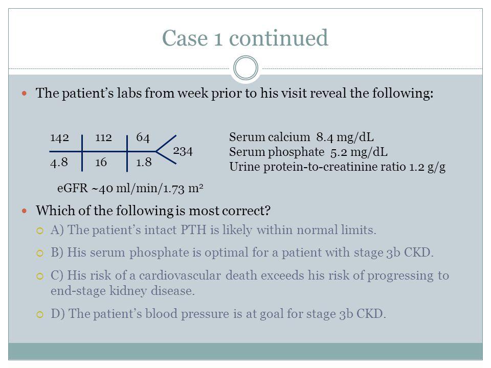 Prevalence of CKD-related Complications Moranne O. et al. J Am Soc Nephrol 20:164-171, 2009.