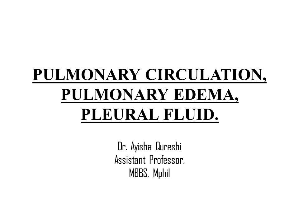 PULMONARY CIRCULATION, PULMONARY EDEMA, PLEURAL FLUID.