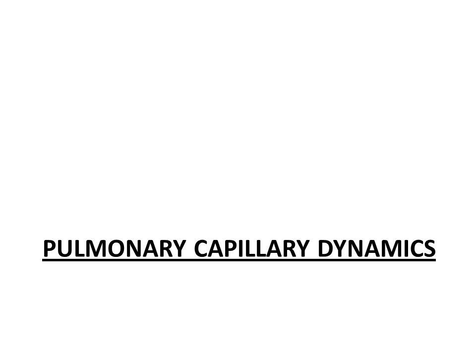 PULMONARY CAPILLARY DYNAMICS