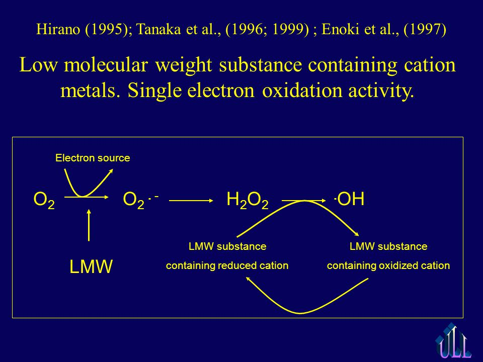 Low molecular weight substance containing cation metals.