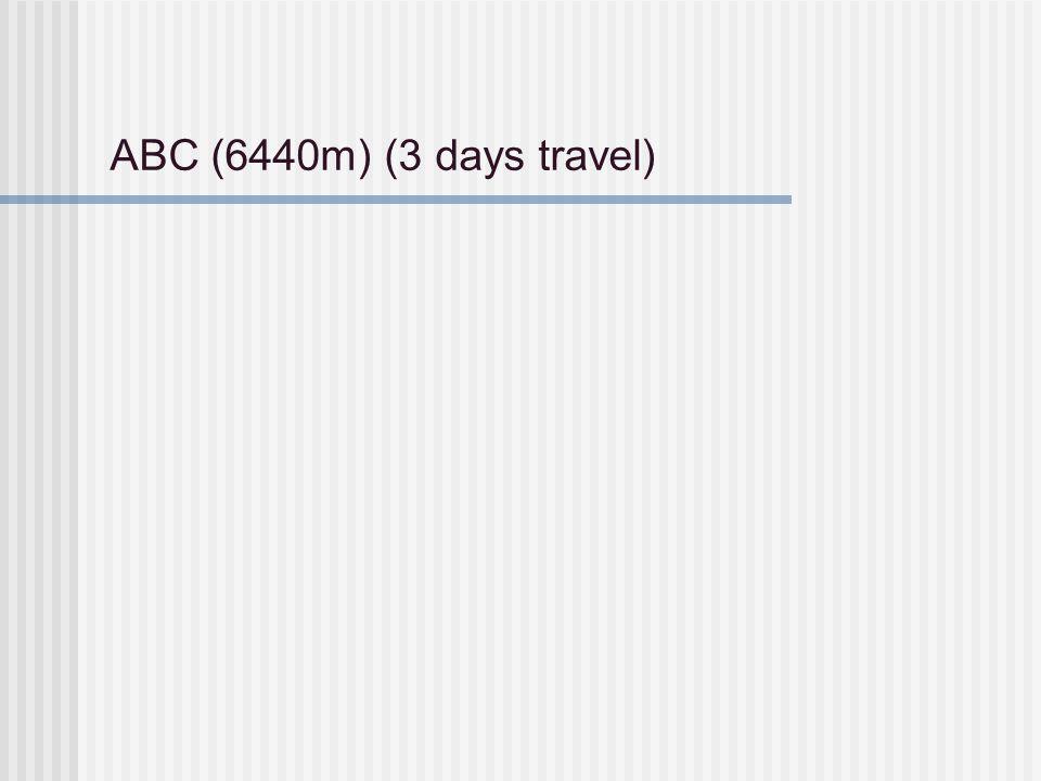 ABC (6440m) (3 days travel)