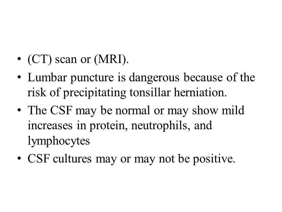 (CT) scan or (MRI).