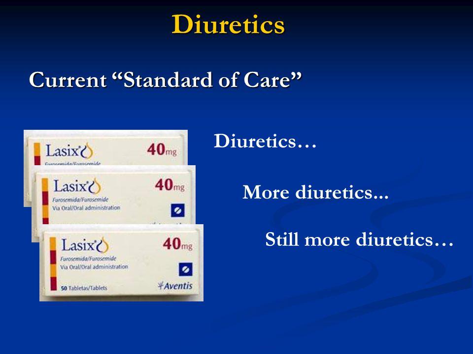 """Diuretics Current """"Standard of Care"""" Diuretics… More diuretics... Still more diuretics…"""